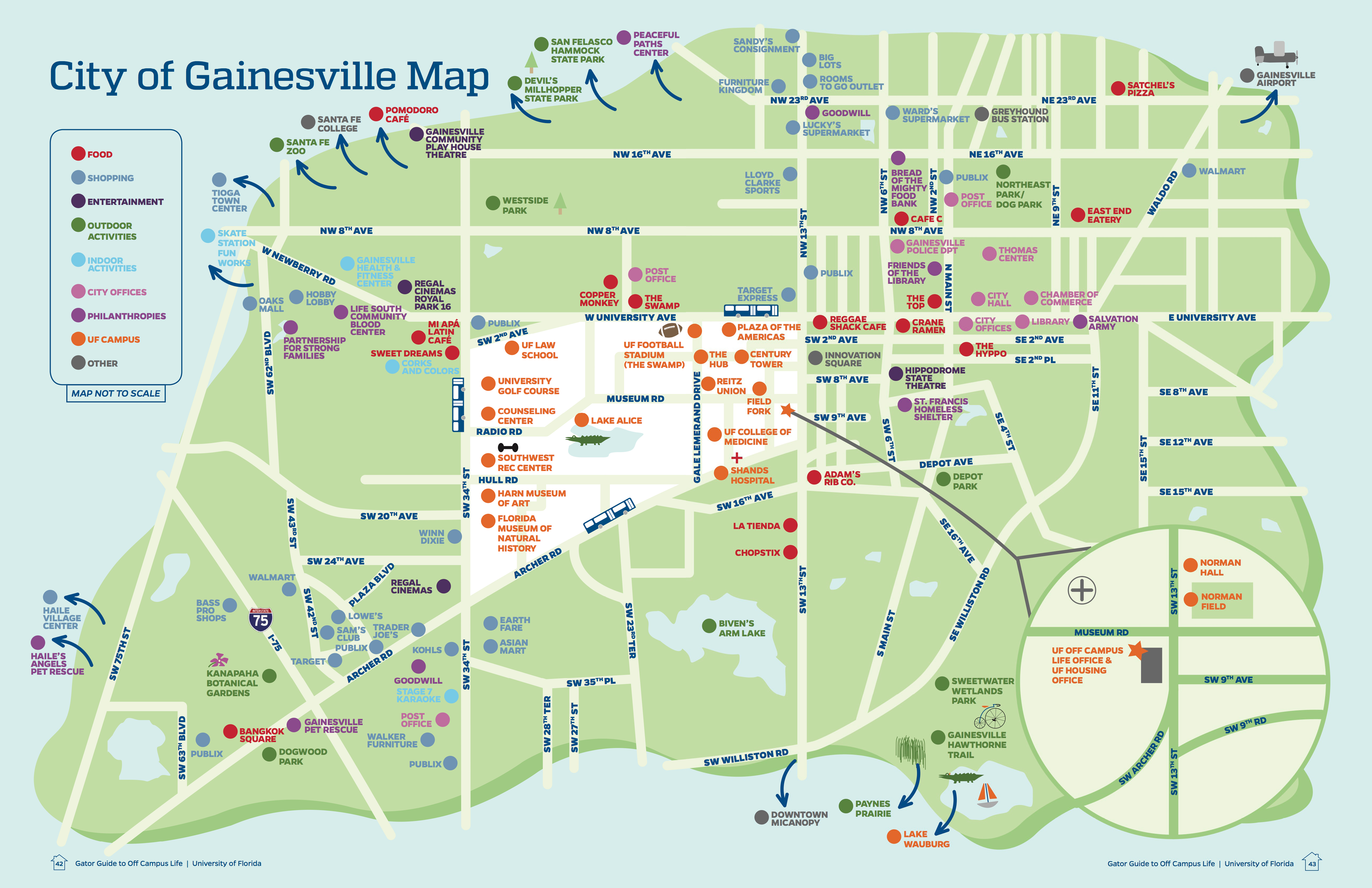 University Of Florida Map University of Florida Off Campus Life   christina singer